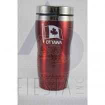 OTTAWA RED STAINLESS STEEL MUG 16 OZ.