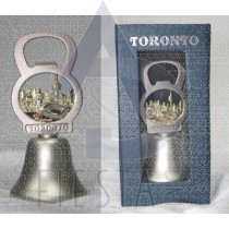 TORONTO 2-TONE BELL WITH BOTTLE OPENER IN BLUE GIFT BOX