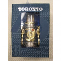 TORONTO 2-TONE TOOTHPICK HOLDER IN BLUE GIFT BOX