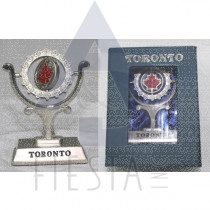 TORONTO SPINNING PAPER WEIGHT IN BLUE GIFT BOX