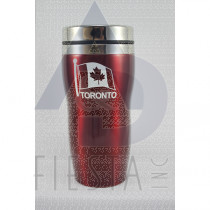 TORONTO RED STAINLESS STEEL MUG 16 OZ.