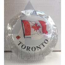 TORONTO ROUND ACRYLIC COASTERS 4 PACK 2 ASSORTED