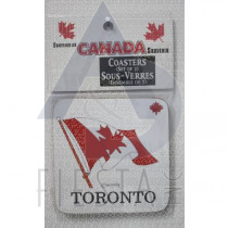 TORONTO WOODEN COASTERS 2 PACK