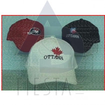 OTTAWA BRUSHED COTTON CAPS 3 ASSORTED