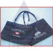 "TORONTO MICRO FIBRE LOOK TRAVEL BAG 21""X 13 1/2"" ASSORTED"