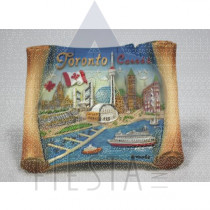 TORONTO POLY SCROLL SHAPE PLAQUE