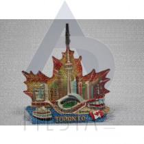 TORONTO POLY MAPLE LEAF SHAPE WITH LANDMARK AND MEMO CLIP