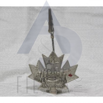 "TORONTO 4"" METAL MAPLE LEAF SHAPE MEMO CLIP"