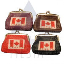 CANADA COIN PURSE ASSORTED COLORS