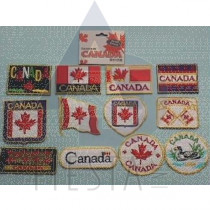 CANADA IRON-ON PATCHES ASSORTED