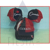 CANADA BRUSHED COTTON CAPS RED/BLUE SERIES 3 ASSORTED