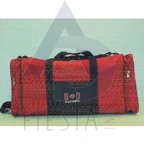 "CANADA 20""X 9"" SPORT BAG WITH 2 SIDE POCKETS BLACK/RED SERIES"