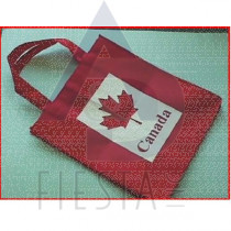"""CANADA RED NON WOVEN SHOPPING BAG-15 """" X 14"""" (40X36CM)"""