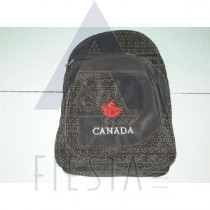 CANADA BLACK BACK PACK WITH MAPLE LEAF-LARGE