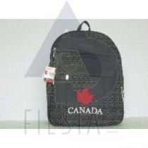 CANADA BLACK BACK PACK WITH MAPLE LEAF-MEDIUM