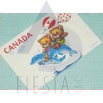 CANADA POSTCARD BEAR WITH DOLPHIN