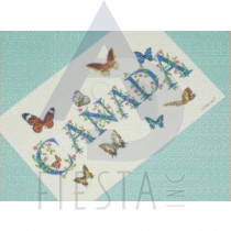 CANADA POSTCARD WITH BUTTERFLY'S