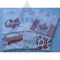 CANADA ADULT WHITE T-SHIRTS ASSORTED DESIGNS & SIZES