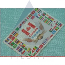 CANADA POSTCARD WITH FLAGS OF THE WORLD