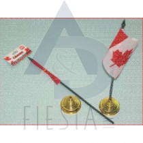 """CANADA FLAG 4""""X6"""" WITH STAND 2 PACK"""
