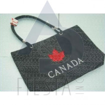 "CANADA MICRO FIBRE LOOK TRAVEL BAG WITH LEAF SIZE 21""X13"""