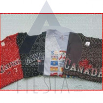 CANADA YOUTH COLORED T-SHIRTS ASSORTED DESIGNS & SIZES