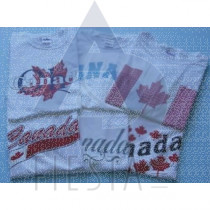 CANADA YOUTH WHITE T-SHIRTS ASSORTED DESIGNS & SIZES