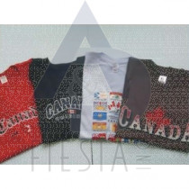 CANADA CHILDREN'S COLORED T-SHIRTS ASSORTED DESIGNS & SIZES