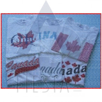 CANADA CHILDREN'S WHITE T-SHIRTS ASSORTED DESIGNS & SIZES