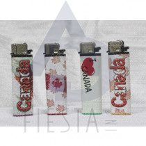 "CANADA ASSORTED LIGHTERS IN DISPLAY BOX-""ACTUAL LIGHTERS ARE DIFFERENT THEN THE PICTURE"""
