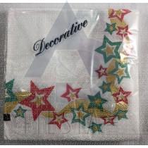 25 PC 2 PLY NAPKIN STAR/BOW