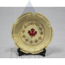 CANADA ROUND POLY DISH WITH STAND
