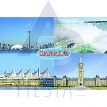 CANADA POSTCARD THE LANDMARKS