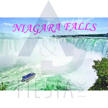 NIAGARA FALLS POSTCARD WITH THE MAID OF THE MIST