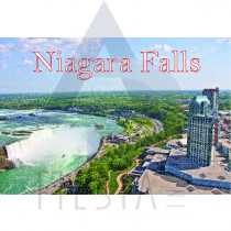 NIAGARA FALLS POSTCARD AERIAL VIEW OF THE HORSESHOE FALLS