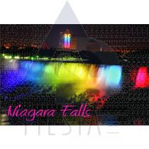 NIAGARA FALLS POSTCARD NIGHT VIEW OF THE AMERICAN FALLS