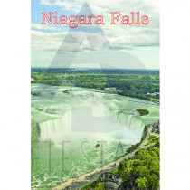 NIAGARA FALLS POSTCARD AERIAL VIEW OF THE HORSESHOE FALLS 2