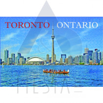 TORONTO POSTCARD SKYLINE VIEW OF DOWNTOWN TORONTO