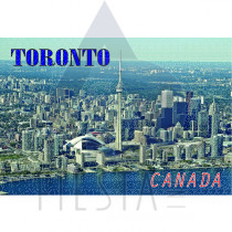 TORONTO POSTCARD AERIAL VIEW OF DOWNTOWN TORONTO