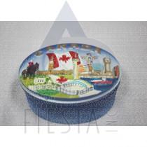 CANADA POLY OVAL JEWELRY BOX